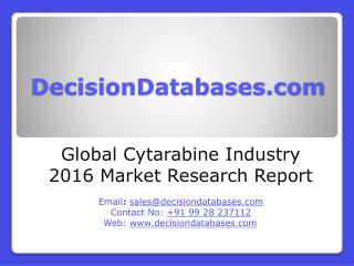 Global Cytarabine Industry Analysis and Revenue Forecast 2016