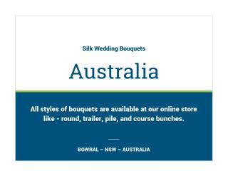 Shop Silk Wedding Bouquets in Australia