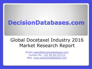 Docetaxel Market Analysis 2016 Development Trends