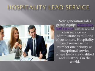 Hospitality Leads