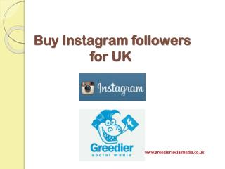 Buy Instagram Followers for UK