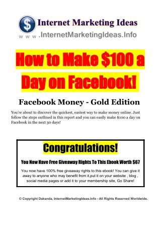 Ways To Make Money Online - A Fast And FUN Way To Make Money Online $100 every single day