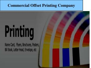 Priniting Services At Day And Night