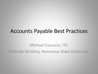 Accounts Payable Best Practices