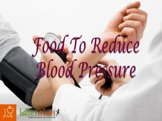 Food to Reduce Blood Pressure