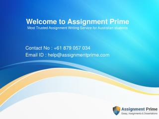 Australian Assignment help provider - Assignment Prime