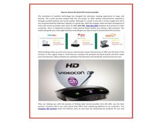 Buy New Connection of Videocon d2h, Dish TV, Tata Sky at Competitive prices