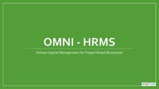 Human Capital Management for Project Based Businesses