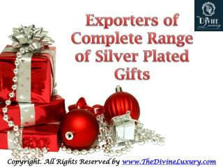Silver Plated Home Decoration Items