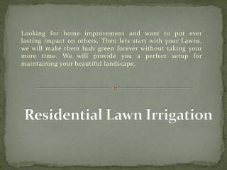 Belmont Irrigation: Residential irrigation | Residential Lawn Sprinkler System