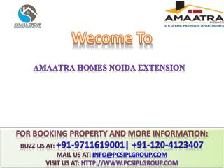 Amaatra Homes @  91-9711619001 ## Buy 2/3 BHK Residential Flats