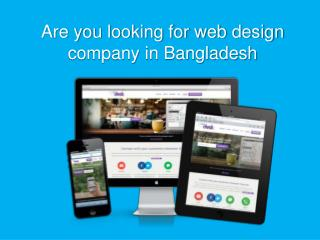 Web design company in Bangladesh