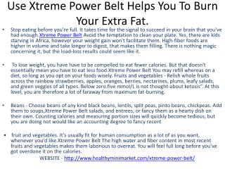 Xtreme Power Belt Is Best Way To Get Slim And Trim Physic.