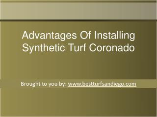 Advantages Of Installing Synthetic Turf Coronado