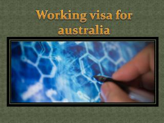 working visa for australia