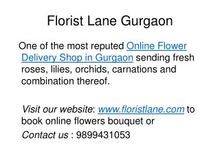 Order Flowers Online for Home delivery in Gurgaon | Roses Bouquet Online - Florist Lane