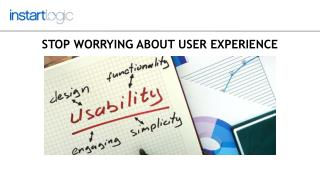 User Experience  - Thinking and Strategy