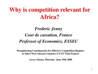 Why is competition relevant for Africa?