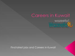 Careers in Kuwait - Wazeefa1