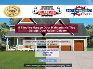 5 Effective Garage Door Maintenance Tips – Garage Door Repair Calgary