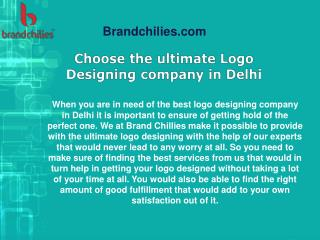 Choose the ultimate Logo Designing company in Delhi