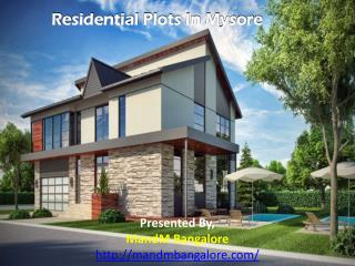 Residential Plots In Mysore