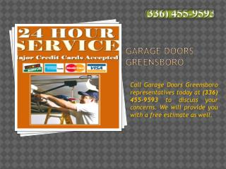 24 Hr Garage Door Repair Greensboro