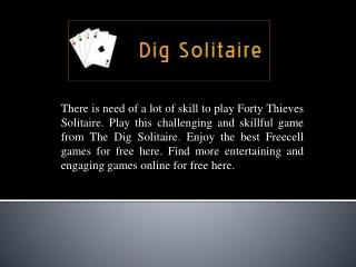 Play Forty Thieves Solitaire Free