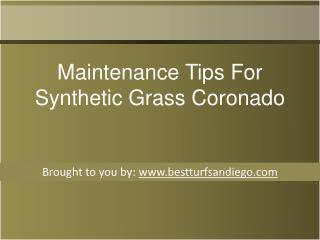 Maintenance Tips For Synthetic Grass Coronado