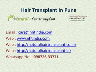 Hair Transplant in Pune, India at Low cost...