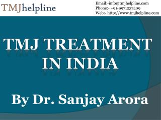 TMJ Treatment In India