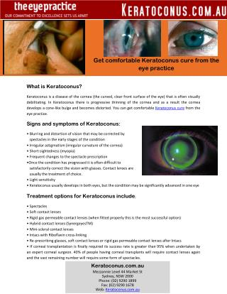 Get comfortable Keratoconus cure from the eye practice