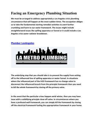 Plumbing contractor Los Angeles