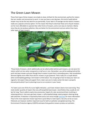 Top Tips For Buying a Riding Lawn Mower