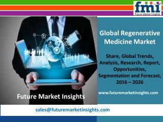 Regenerative Medicine Market 2016-2026 Shares, Trend and Growth Report