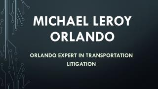 Michael LeRoy - Orlando Expert in Transportation Litigation