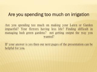Setup Residential Lawn Irrigation system| belmont Irrigation