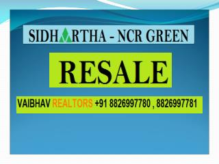 Sidhartha Ncr Green  Resale 2 BHK 990 Sqft Best Price 53 Lac Sector 95 Gurgaon Call 8826997780