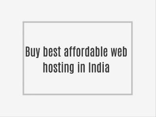 Buy best affordable web hosting in India