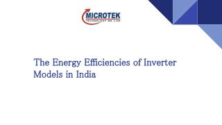 Energy Efficient Inverter Models in India