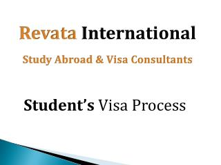 Revata International Student Visa Process