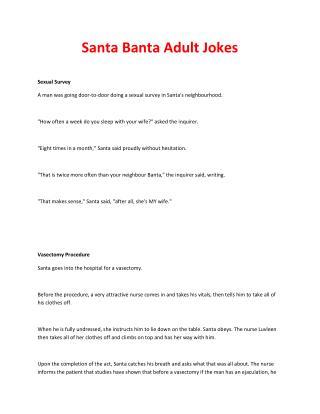 Santa Banta Adult Jokes