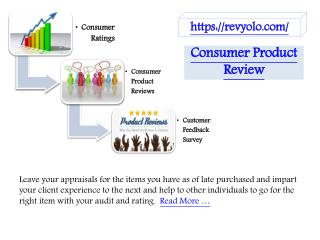 Consumer Product Review