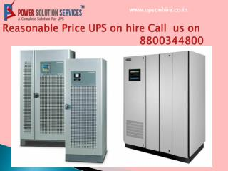 Reasonable Price UPS on hire call 8800344800