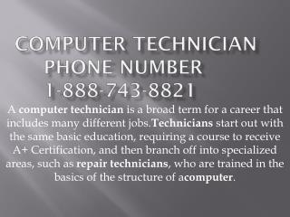 Computer 1-888-743-8821 Technician in Baton Rouge