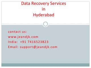Hard disk data recovery services in Hyderabad.