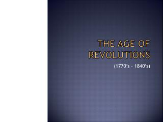 Mayer - World History - Age of Revolutions