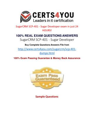 How to pass SCP-401 exam in first attempt?