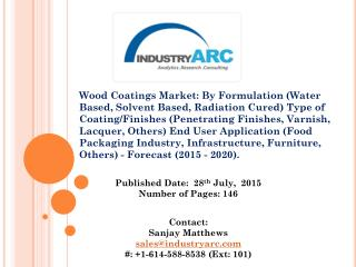 Wood coatings market by formulation and by type 2015-2020.