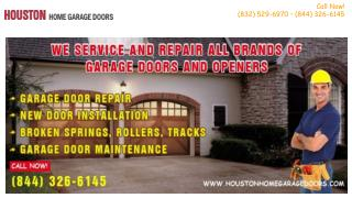 Broken Garage Door Spring Repair - Houston, TX
